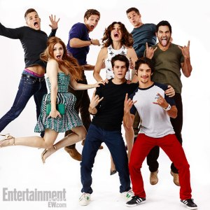 The whole main 'Teen Wolf' cast at SDCC 2013. (Photo courtesy of Entertainment Weekly.)