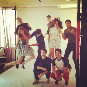 Behind the scenes of 'Teen Wolf's EW photo shoot. (Photo courtesy of EW on Instagram.)